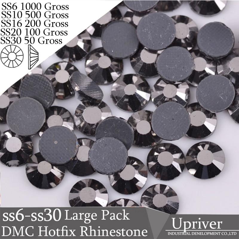 Upriver Wholesale Large Pack Bulk Packing Shiny Heat Transfer SS6 SS10 SS20 SS20 SS30 Jet Hematite