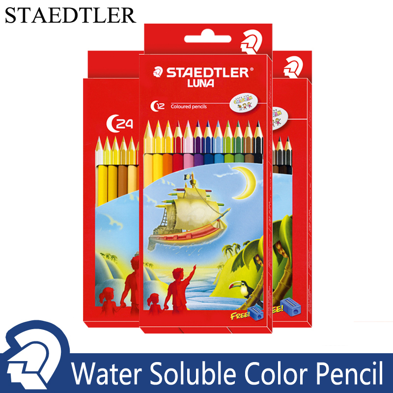 STAEDTLER 12/24/36 Colors Colour Pencils Set Water Soluble Watercolor Pencils Rainbow Pencil Crayon De Couleur Drawing Pencils ...