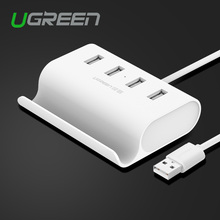 USB 2.0 4 Port HUB Splitter adapter with micro usb power stand in white 50cm for notebook computer laptop For mobile phonePC
