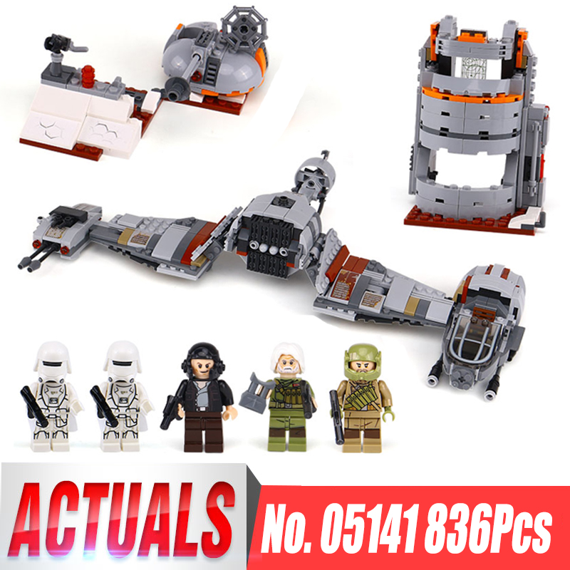 Lepin 05141 Star S Wars The Defense Of Crait Set Compatible legoing 75202 Building Blocks Bricks Educational Toys Kids Gifts