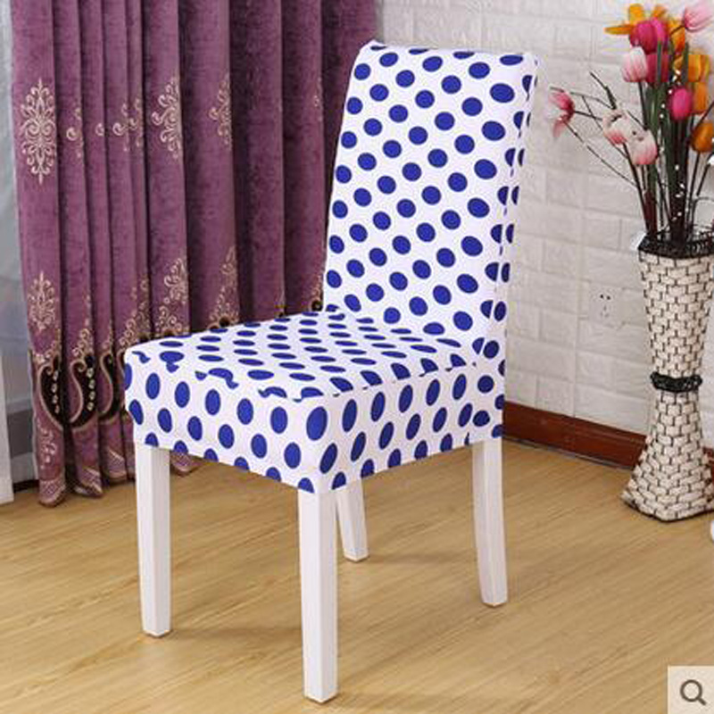 1 Piece Sure Fit Soft Stretch Spandex Pattern Chair Covers