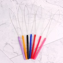 1Pcs Hair Extension Tool Micro Ring Bead Pulling Hoop Loop Feather Threader(China)