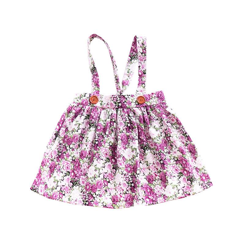 HTB1L9xseRLN8KJjSZPhq6A.spXaA - 1-4y Summer Children Clothing Floral Girl Skirt Cotton Cute Toddler Suspender Skirts for Baby Girls Clothing