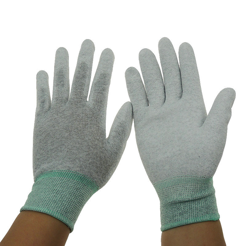 Antistatic Polyester Fabric Gloves ESD PU Coated Palm Fit /Top Fit Gloves Cotton Gloves Nitrile /Latex Electronic Safety Gloves цена