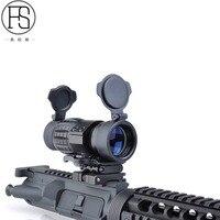 FS сумка для охотничьего ружья или винтовки Аксессуары тактический 3X лупа прицел с откидной стороной 20 мм