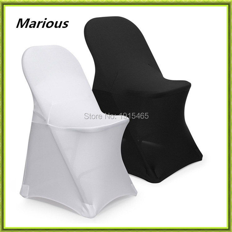 Wedding Black Amp White Spandex Chair Cover Marious Folding