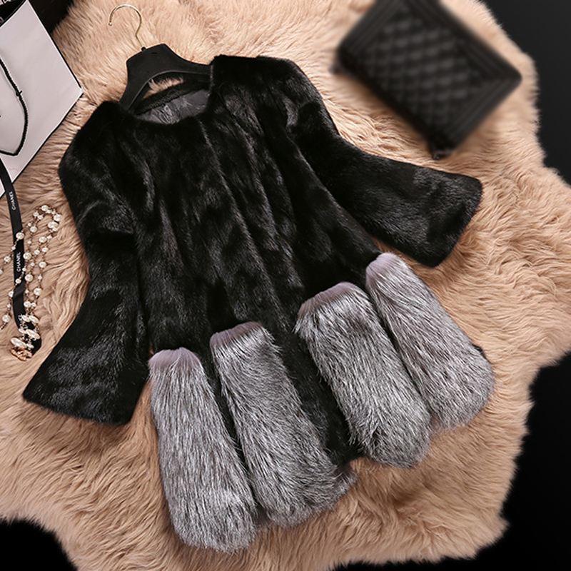 Outwear Mince Faux Femmes 2018 Veste Mode Hiver De noir Fourrure Renard Pardessus Occasionnel Manteau Vintage O613 Blanc Furry Femelle Partie Chaude Cwwp6qP