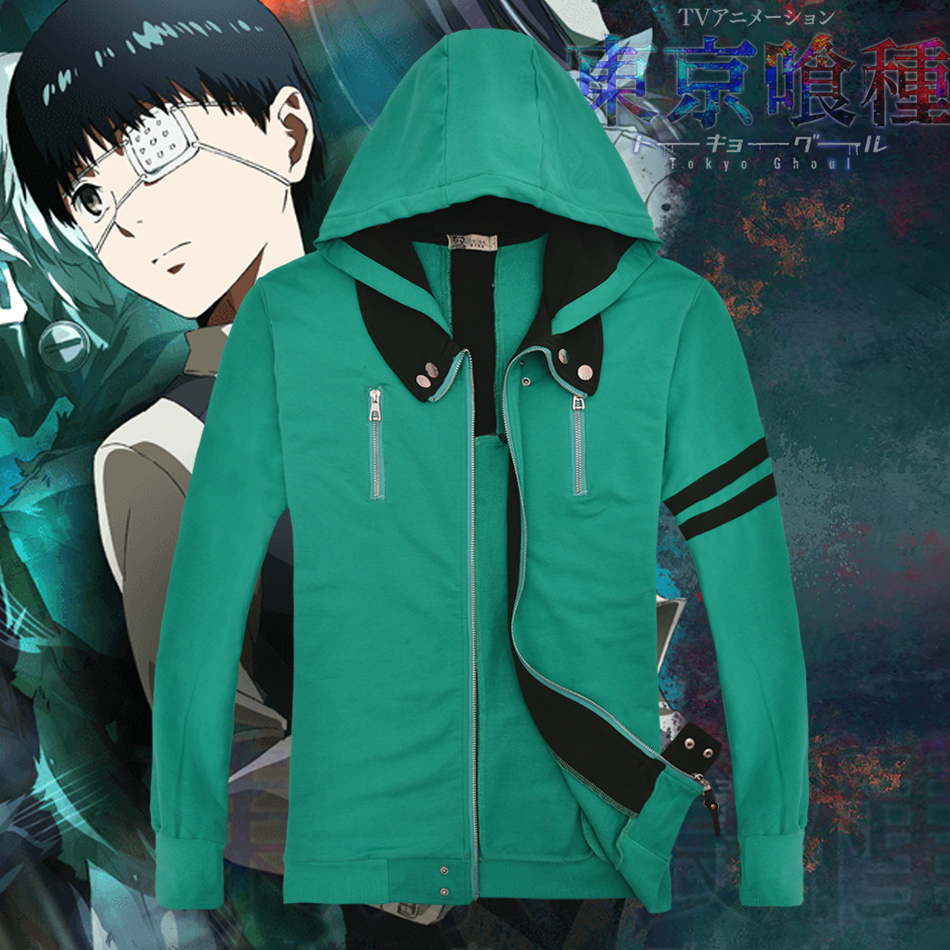 tokyo ghoul cosplay costume anime clothes Cotton coat,mens hoodies and sweatshirts,men tracksuits Cardigan jacket