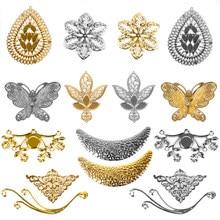 22 türleri altın gümüş renk telkari çiçek sarar konektörü içi boş bezemeler bulgular DIY takı aksesuarları için