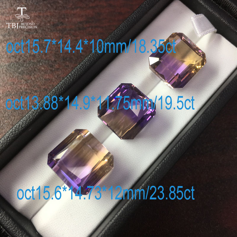 Tbj,natural ametrine mix shape real loose gemstone for DIY gold and 925 silver jewelry