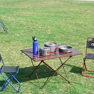 Image 5 - Big Small Brown folding portable picnic table chair  camping table outdoor furniture