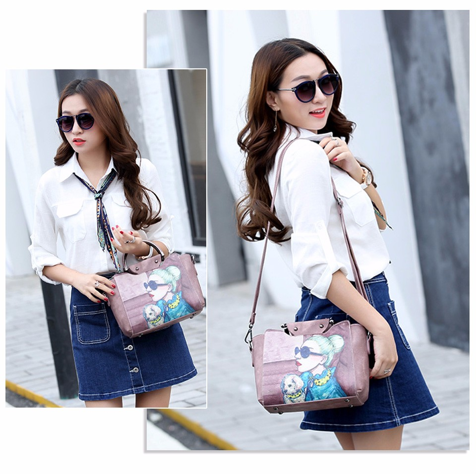 18 Famous Designer Brand Tote Bags Women High Quality Leather Handbags Shoulder Bag For Ladies Vintage Print Handbag Blue Pink 9