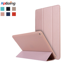 Case for iPad Air 2, PU Leather Front Cover+Soft TPU Bumper Edge Stand  Candy Color Tablet Case for iPad Air 2 for iPad 6 Fundas