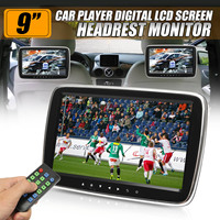 9 HD Car Headrest Monitor DVD MP5 Player USB/SD/HDMI/FM/Game TFT LCD Screen Touch Button Car Digital Video Radio Stereo