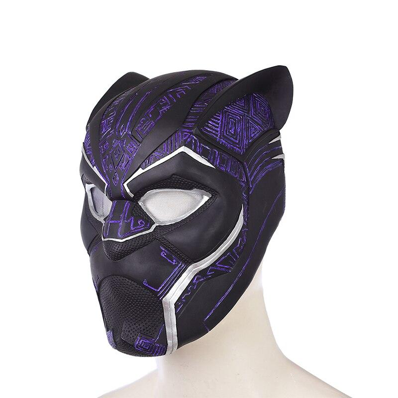 2018 Black Panther Helmet Avengers Infinity War Power Black panther Blue Black Panther Superhero Helmet PVC (6)
