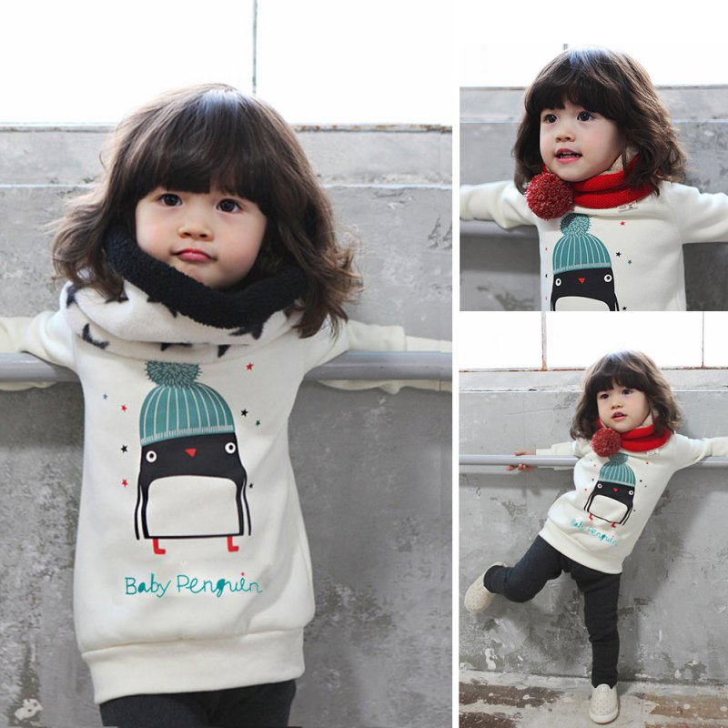 BOBORA-Baby-Kid-Cotton-Tops-with-Little-Penguins-Pattern-Steam-Velour-Thickening-Hooded-Sweater-Long-Sleeve-Boys-and-Girls-Winte-5
