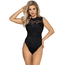 Bodysuits Cut Out Lace Sleeveless Body Femme Sexy O Neck Bodycon Women Bodysuit Plus Size Pink White Black Romper RS80472 sleeveless cut out dressy high neck pants romper