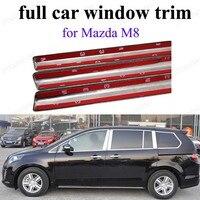 Für M-azda M8 Auto Styling voll Fenster Trim Sill Abdeckung Edelstahl Fensterrahmen mit mittelsäule