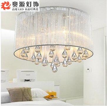 modern crystal circle pendant light bedroom light romance bedroom hanging lighting
