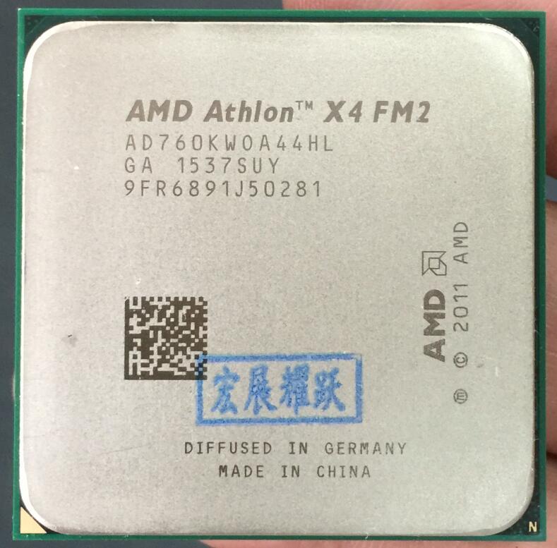 PC Computer AMD Athlon X4 760K  X760K  AMD 760  FM2 Quad-Core CPU  100% Working Properly Desktop Processor