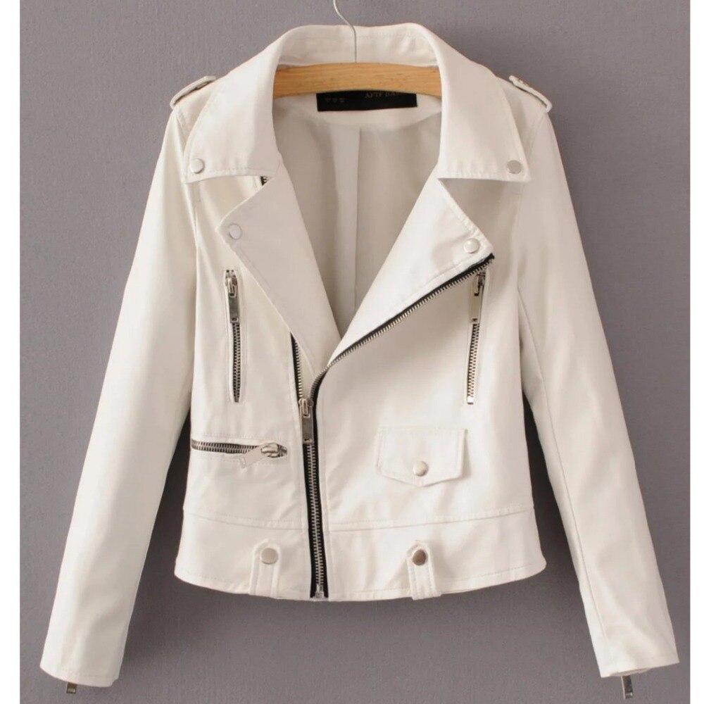 Popular White Leather Jacket-Buy Cheap White Leather Jacket lots ...