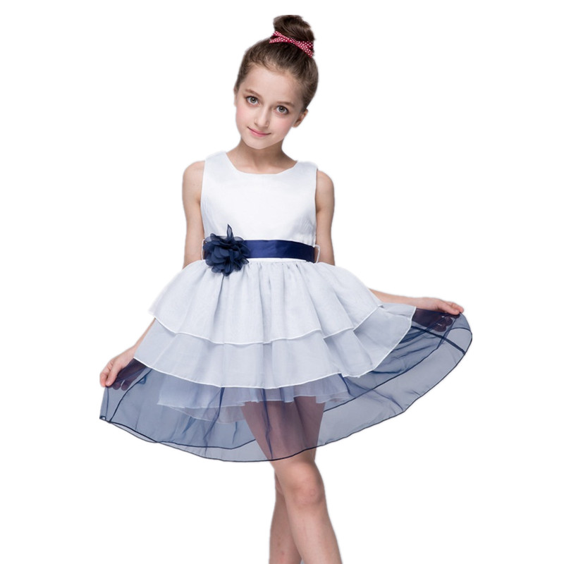 Retail Flower Girls Dress Wedding Kids Dresses For Girl Evening Party Wear Pageant Ceremonies Clothes Teenage Girl Clothing 921 ball gowns for children pageant teenage girls clothes top grade kids wedding dresses ivory beading diamond wedding dress