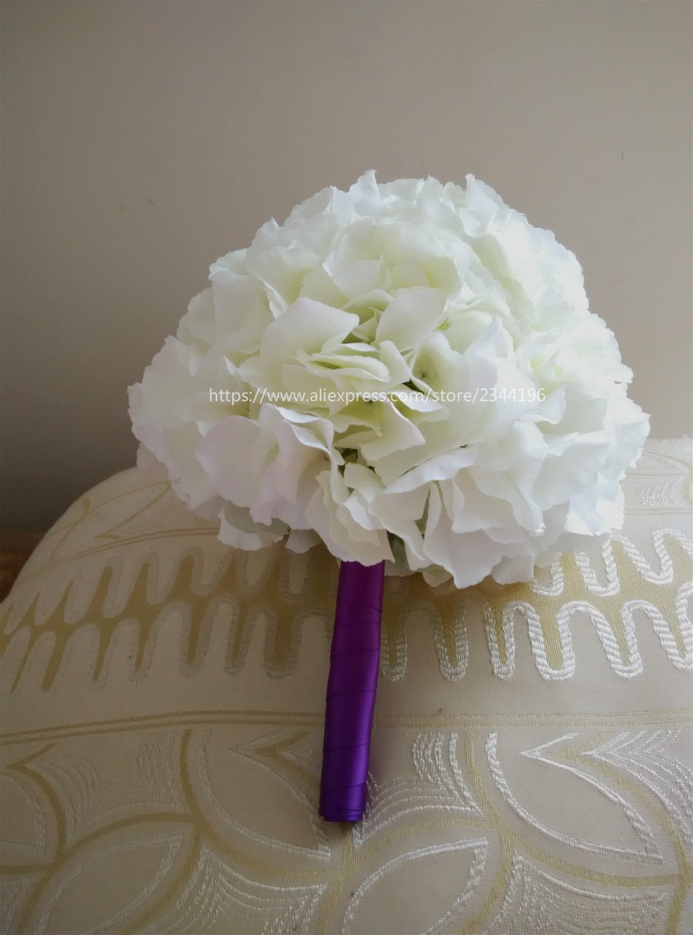 Bride bridesmaid bouquetwhite hydrangea bouquet with purple ribbon bride bridesmaid bouquetwhite hydrangea bouquet with purple ribbon wedding table centerpieces flowershome decoration in artificial dried flowers from izmirmasajfo