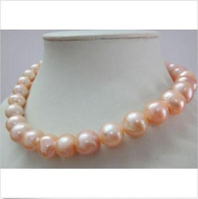 Vente bijoux> huge11-12mm collier de perles kasumi rose du sud naturel 18