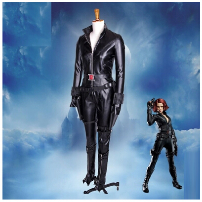 adult Halloween costumes for women lol captain america cosplay costume Avengers Black Widow Movie costume Leather sports suits movie captain america the winter soldier black widow cosplay costume custom made any size