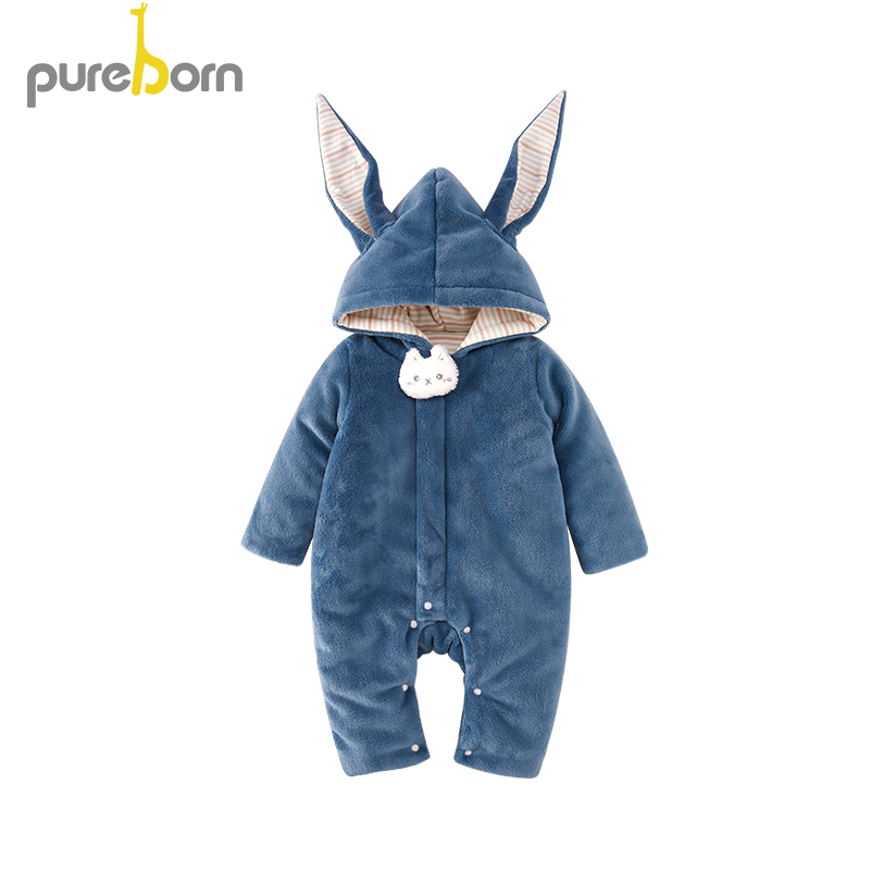 Pureborn Baby   Romper   Baby Clothes Children Winter Overalls Newborn Christmas Infantil Jumpsuit New Year's Costume for Boy Girl