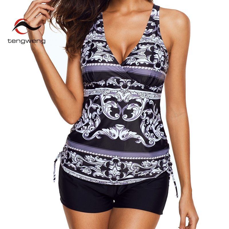 tengweng 2019 new sexy floral print women swimsuit plus. Black Bedroom Furniture Sets. Home Design Ideas