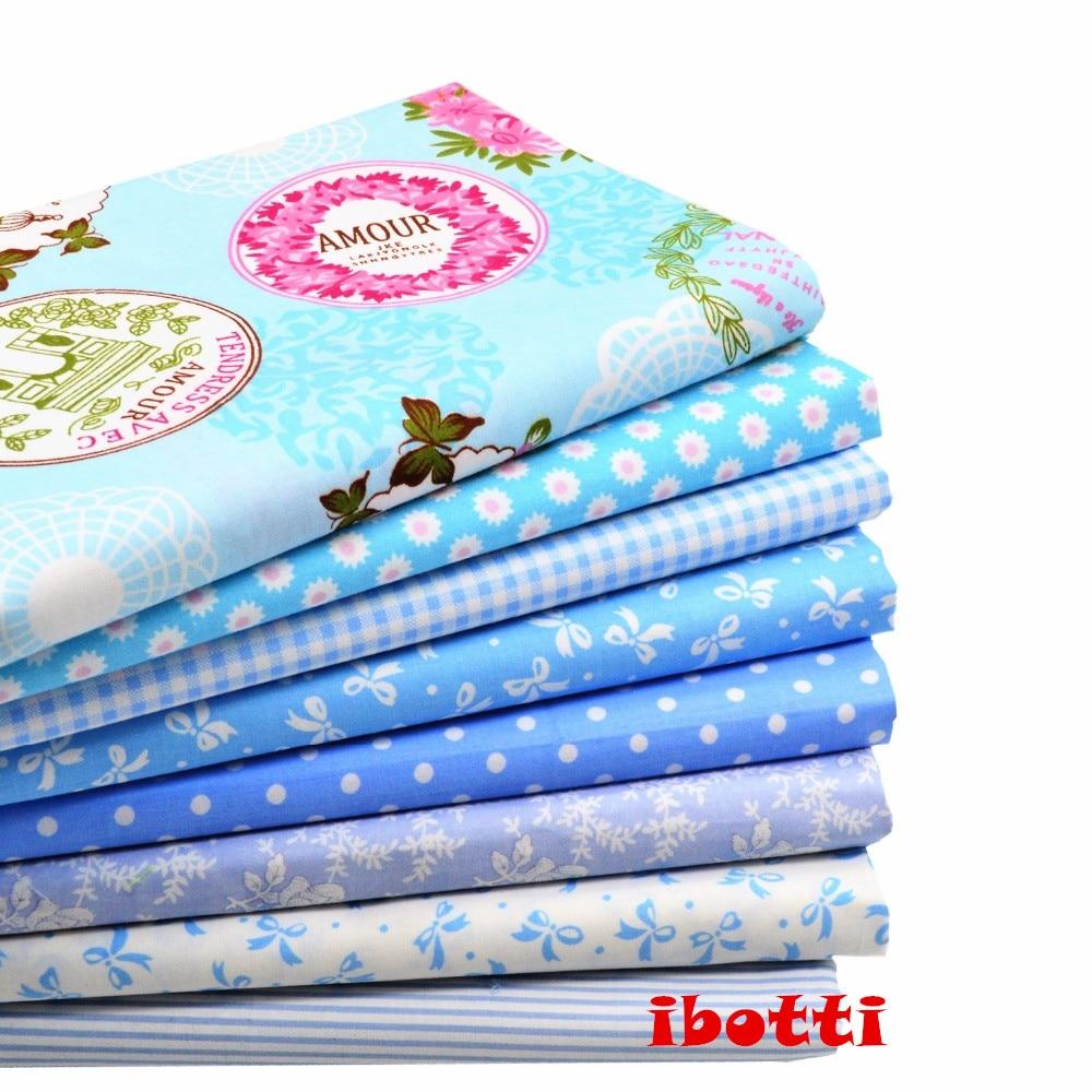 ibotti 8 Unids / Lote 46 * 56 cm Azul Bowknot Dot Grid Series tela de - Artes, artesanía y costura - foto 1