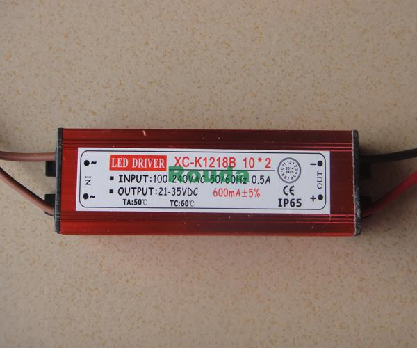 20w 600ma 10 series 2parallel waterproof IP65 led driver 20w 600ma 30% off