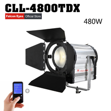 Falconeyes 480W Fresnel LED Light Dimmable Video Light DMX512 system with LCD&touch panel Continuous lighting CLL-4800TDX цена