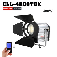 Falconeyes 480W Fresnel LED Light Dimmable Video Light DMX512 system with LCD&touch panel Continuous lighting CLL 4800TDX