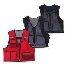 Fishing Vest Men Utility Summer use Hunting Vest Fish Jackets Multiple Pocket Mesh Jacket Vest for Fishing Hunting Photography