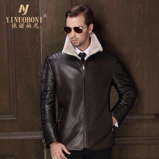 Men White Duck Down Jacket Men PU Jacket Men Italian Style Brand ...