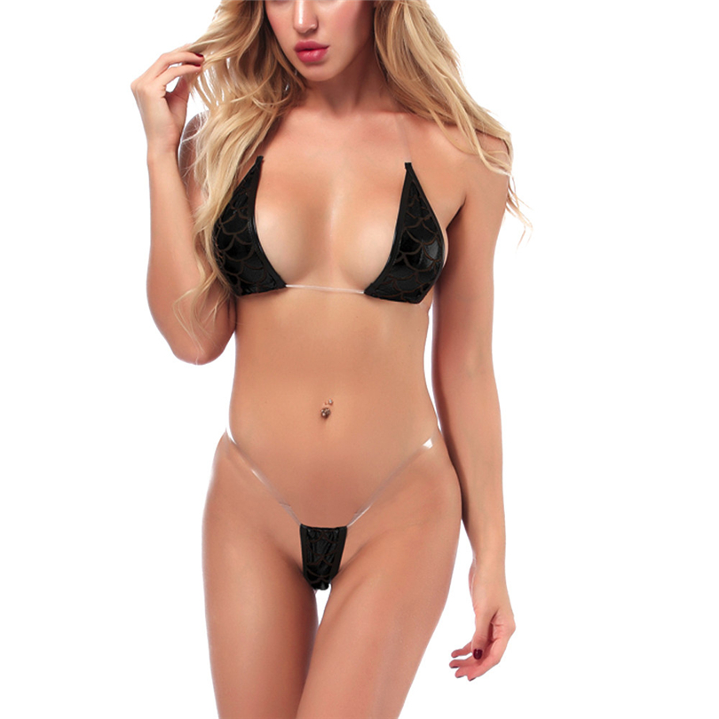 Women <font><b>Sexy</b></font> Lingerie Erotic Bra Intimates <font><b>Sexy</b></font> Pajamas Micro Bikini Clubwear Leather Underwear Performance Clothing Sex Set A20 image