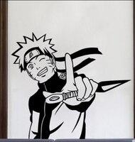 Наруто виниловые наклейки японский мультфильм саске аниме мальчики фреска искусство наклейка на стену детские номера декоративные украше...