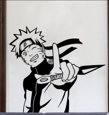 Buy naruto vinyl wall sticker japanese for Mural naruto