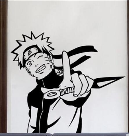 Naruto vinyl wall sticker japanese cartoon uchiha sasuke anime boys mural art wall decal kids room