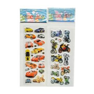 Image 5 - Autocollants à bulles 3D, étiquette voiture, moto, étiquette Scrapbook pour ordinateur portable et téléphone portable pour enfants, 10 pièces/lot