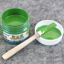 GreenWater-based Paint ,Metallic lacquer , wood varnish, Furniture Color change, wall,door,crafts, Painting,100g per bottle