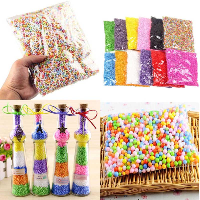 7-9 Mm Polistiren Styrofoam Bola Gelembung Bola Busa DIY Dekoratif Bahan Mengisi Bantal/Kotak Hadiah untuk Rumah dekorasi Pohon Natal