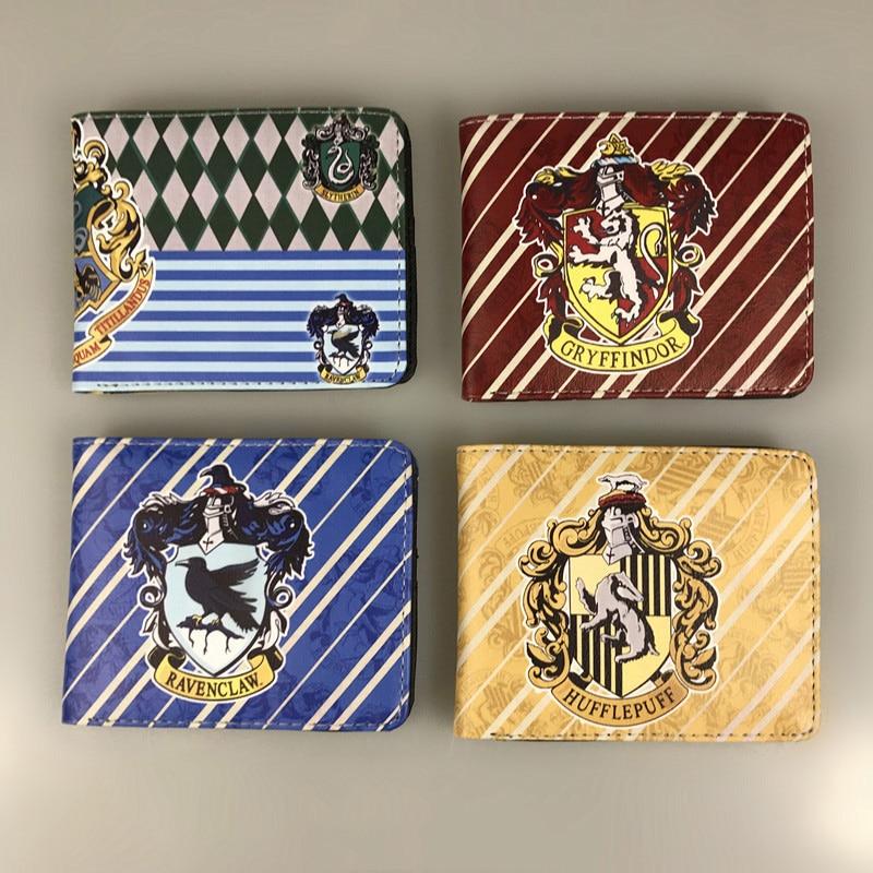 Purse Wallet Holders Coin-Pocket Hogwarts Bi-Fold Potter Ravenclaw Hufflepuff Gryffindor