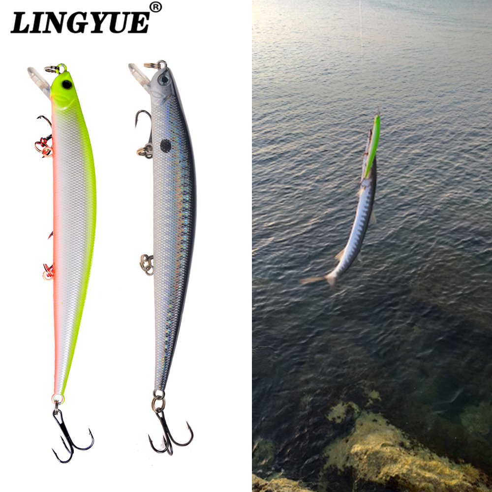 1pcs Fishing Lures 12.5cm/12g Minnow Lure Rattling High Quality Hard Bait Crankbait Wobbler Fishing Tackle Leurre Peche For Pike(China)
