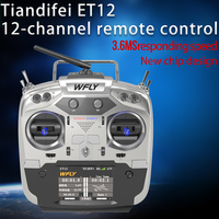New Arrivals WFLY ET12 2.4GHz Remote Controller 12CH Plus RF209S Receiver For RC Boat /Car Helicopter Fixed wing