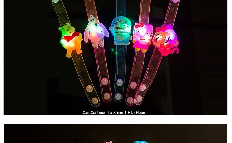 1pcs Cartoon LED Night Light Party Xmas Decoration Colorful LED Watch Toy Boys Girls Flash Wrist Band Glow Luminous Bracelets (7)