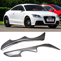 TT Carbon Fiber car Headlight Eyebrows Cover Trim Sticker for Audi TT 1996 2007 Free shipping