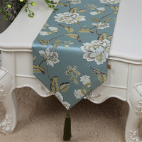 European style dining table runner table flag fashion pastoral long tablecloth bed flag cabinet flag free shipping